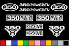 350 CI V8 POWERED 10 DECAL SET SBC ENGINE STICKERS EMBLEMS FENDER BADGE DECALS