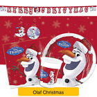 Frozen OLAF CHRISTMAS Party Range (Tableware & Decorations) Xmas Procos