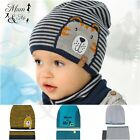 Boys Hat and Scarf Kids Set Warm Winter Hat with Scarf Lining