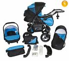 Baby Pram Stroller Pushchair Car Seat Carrycot Travel System Buggy+ 28 COLOURS <br/> FORWARD&amp;REAR FACING MODE,Rain Cover,Mosquito Net &amp; More
