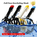Anti-Fog Swimming Full Face Mask Surface Diving Snorkel Scuba for GoPro S/M/L/XL