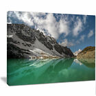 'Clear Mountain Lake under Bright Sky' Photographic Print on Wrapped Canvas