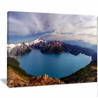 Design Art 'Clear Lake with Bright Sky' Photographic Print on Wrapped Canvas