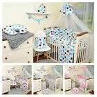 BABY BEDDING SET 2 3 6 9 15pcs 120x60 cm/140x70cm covers, pillow, duvet, bumper