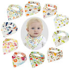 Fashion Cute Toddler Baby Feeding Bandana Bib Dribble Bibs 10 Style Available