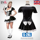 Sexy Naughty French Maid Xmas Adult Costume Fancy Dress Up Plus Size S-2XL