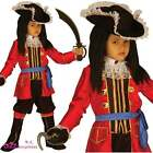 Boys Buccaneer Pirate Captain Hook Deluxe Child Fancy Dress Costume Book Day