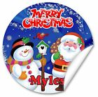 Personalised Stickers/seals Christmas parcels and Presents, Santa V2, 38mm Gloss