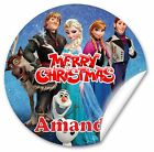 Personalised Stickers/seals Christmas parcels and Presents, Frozen, 38mm Gloss