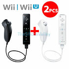 2x Remote+Nunchuck Controller Set Combo+Case For Nintendo Wii Wii U Console Game <br/> USA Seller&radic;FAST Shipping&radic;30-Day Money Back Guarantee&radic;