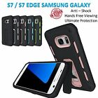 Samsung Galaxy S7 / S7 Edge Armor Phone Case Cover Kickstand Shockproof Bumper