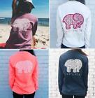 Womens Elephant Crochet T-Shirt Pullover Long Sleeve Blouse Sweater Casual Top