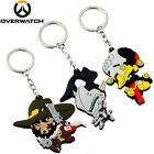 Hot Overwatch Zenyatta McCree Genji Silicone Keychain Key Ring Pendant Cute Gift