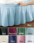 WRAP AROUND DUST RUFFLE, COTTON BLEND BED SKIRT, 14 INCH DROP image