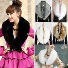 Fashion Shrug Winter Luxury Faux Fur Collar Scarf Warm Warmer Shawl Wrap Stole H