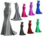 UK Stock Long Evening Xmas  Party Ball Gown Prom Wedding Bridesmaid Dress 6-18