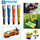 3D Printing Pen Stereoscopic Drawing Arts Crafts+ 3 Free ABS Filaments UK Stock