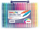 PENTEL ARTS STUDIO SET 40 Fibre Felt Tip Pens & Highlighters for adult colouring