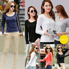Sexy Women's Plus Size Tops Loose Long Sleeve T-Shirt Casual Blouse Fashion New