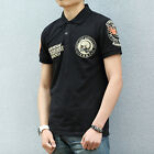 Mens Vintage Stock Rider Motor Rock Roll Punk Wheel Punk Skull Design T-shirt
