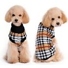 Dog Cat Plaid Sweater Hoodie Coat Pet Puppy Jacket Jumper Warm Clothes