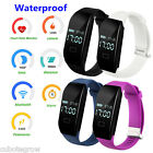 IP65 OLED Smart Watch Armband Bluetooth Zähler Pedometer Fitness Tracker Pulsuhr