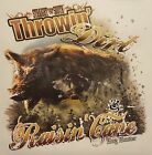 THROWN' DIRT RAISIN' CANE HOG HUNTER BOAR HUNTING #SS-37 POCKET SHIRT