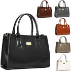 KOREA NEW Women's Bag Faux Leather Square Medium Shoulder, Tote, Cross Handbag