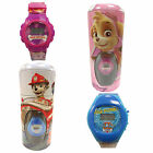 Childrens Paw Patrol Kids Digital Wrist Watch & Money Box Tin Blue Pink Gift Set