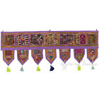 "LARGE SELECTION - 40"" PURPLE DOOR WINDOW VALANCE TORAN WALL HANGING Indian Boho"