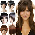 Straight Front Bangs Fringe Piece Clip In Hair Extension Remy style Real Natural