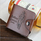 New Men's Genuine Leather Bifold Wallet Vintage Coin Purse Short Card Holder