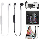 Wireless Bluetooth Headset Stereo Sport Headphone Earphone For Samsung Iphone