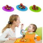 New Baby One-Piece Silicone Placemat Food Divided Plate Mat Toddler Kids【US】