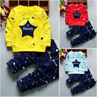 2PCS Toddler Kids Baby Boy T-Shirt Tops Long Pants Toddler Clothes Set Outfits