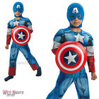 FANCY DRESS COSTUME ~ BOYS MARVEL AVENGERS DELUXE CAPTAIN AMERICA AGES 3-8