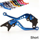 Short Brake Clutch Levers For YAMAHA R6s Canada version 2006 Blue Black Silver