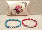 x1 pink or blue silver stars spacers PERSONALISED ANY NAME WORD BRACELET New Mum