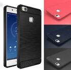 Thin Brushed Skin Drawing Armor Soft Rubber Slim Cover case for Huawei Phones