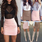 Fashion Women PU Leather Bodyocn Mini Skirt Zipper Short Pencil Skirts Clubwear
