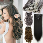 Real Quality Clip in on Full Head Hair Extensions Extension for Human hairpieces