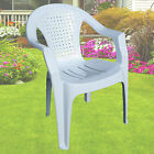 Garden Plastic Chair Stacking Chair Patio Outdoor Armchair Low Back Heavy Duty
