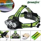 40000LM 5x XM-L T6 LED Rechargeable 18650 USB Headlamp Head Light Zoomable Torch