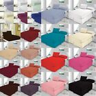 Plain Dyed Fitted sheet Flat and Valance sheets Poly Cotton Bed Linen All Size