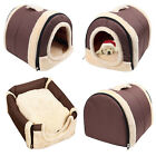 2 in 1 Soft Pet Dog Bed House Kennel Mat Pad Warm Washable Puppy Cat Cushion