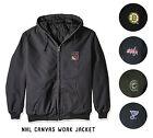 NHL Quilted Workmans Canvas Jacket by Dunbrooke Team Logo Size M-2XL $27.98 USD on eBay