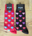 MENS HOT SOX VALENTINES DAY CANDY HEARTS Size 10-13 Socks Black Red You Choose