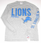 Detroit Lions T-Shirt Long Sleeve Men's size Medium LG or XL, Gray, New w/Tag!