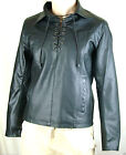 Men's Gents Gray Adjustable Collar Casual Shirt Soft Leather Shirt Jacket LM03