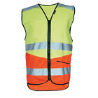 NITEZONE Courier Cycle Yellow Hi Vis / Hi Viz Vest High Visibilty Waistcoat Bib
